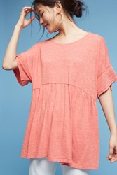 Anthropologie Oversized Peplum Tunic Coral