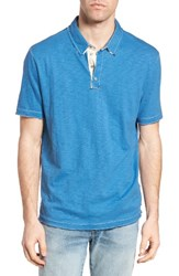 True Grit Men's Slub Jersey Polo Splash