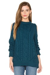 Endless Rose Cut Out Sleeve Sweater Teal