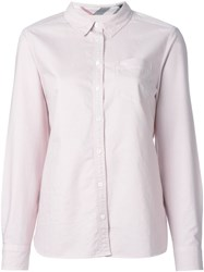 Burberry Brit Classic Oxford Shirt Pink And Purple