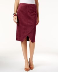 Inc International Concepts Faux Suede Asymmetrical Pencil Skirt Only At Macy's Port