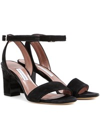 Tabitha Simmons Leticia 75 Suede Sandals Black