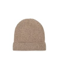 Barneys New York Rib Knit Cashmere Beanie Light Gray