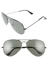 Ray Ban Men's Icons 62Mm Polarized Aviator Sunglasses