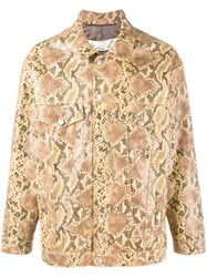 Martine Rose Python Skin Print Oversized Jacket Brown