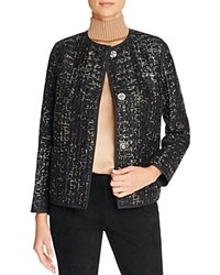Lafayette 148 New York Holland Metallic Tweed Jacket Black Multi