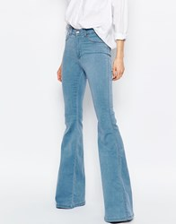 Dr. Denim Dr Denim Brigitte High Waist Skinny Flare Jeans Blue