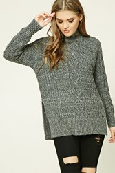 Forever 21 Marled Knit Fisherman Sweater