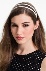 L. Erickson Double Skinny Headband White