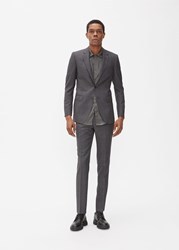 Lanvin Attitude 2 Button Check Suit Dark Grey