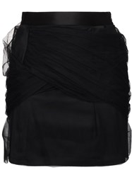 Y Project Mini Skirt With Tulle Draping Black