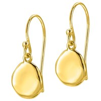 Dower And Hall Pebble Drop Earrings Gold