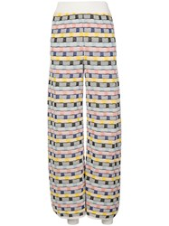 M Missoni Wide Leg Abstract Trousers 60