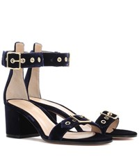Gianvito Rossi Exclusive To Mytheresa.Com Hayes 60 Velvet Sandals Blue