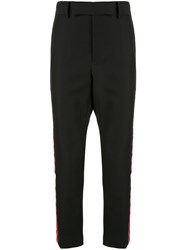 Haider Ackermann Checkered Stripe Trousers 60