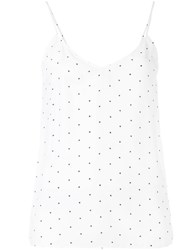 Equipment Dotted Tank Top White