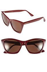 Women's Isaac Mizrahi New York 55Mm Cat Eye Sunglasses Brick