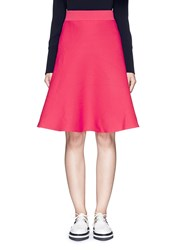 Mo And Co. Cotton Blend Knit A Line Skirt Pink