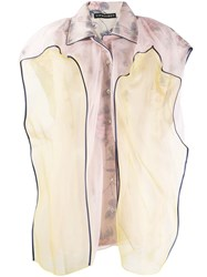 Y Project Contrast Sleeveless Blouse Pink