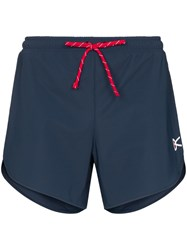 District Vision Grey Spino Performance Shorts Blue