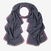 Bally 'S Wool Jacquard Scarf In Multi Blue Navy Multicolor
