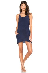 Chaser Silk T Back Mini Dress Navy