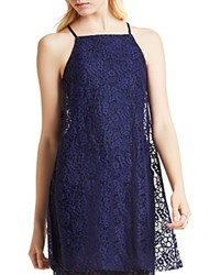Bcbgeneration Lace Overlay Tunic Deep Blue