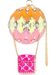 Manish Arora Embellished Clutch Bag Pink And Purple