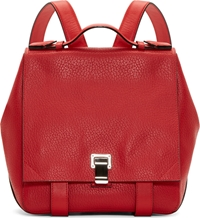 Proenza Schouler Red Grained Leather Courier Small Backpack