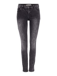 Oui Faded Print Jean Grey Denim