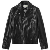 Alexander Mcqueen Leather Biker Jacket Black