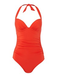 Jets 50 S Gathered Halter Swimsuit Red