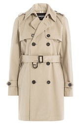 Dsquared2 Cotton Trench Coat Beige