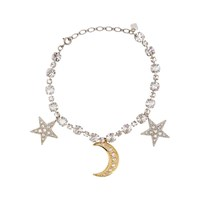Ca And Lou Stella Crystal Embellished Stars Moon Necklace Silver