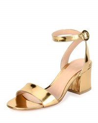 Gianvito Rossi Metallic Ankle Strap City Sandal Gold