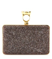 Tom Ford Micro Rock Embellished Box Clutch Red