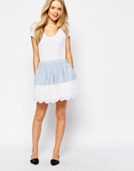 Jack Wills Skirt With Lace Trim Bluewhite