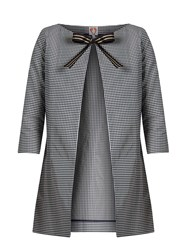 Shrimps Beatrice Checked Coat Navy