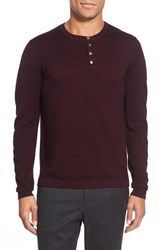 Men's Zachary Prell 'Knightsbridge' Merino Wool And Cashmere Henley Sweater