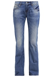 Ltb Roxy Bootcut Jeans Blue Destroyed Denim