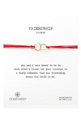 Dogeared Women's Double Linked Friendship Bracelet Red Gold