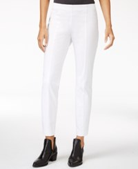 Maison Jules Bi Stretch Pull On Pants Only At Macy's White