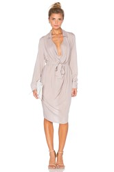 One Fell Swoop Keyhole Shirtdress Gray