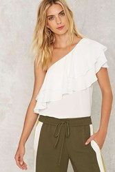 Overseas One Shoulder Top White