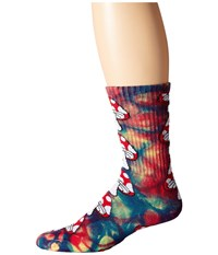Huf Tie Dye Magic Crew Sock Rainbow Crew Cut Socks Shoes Multi