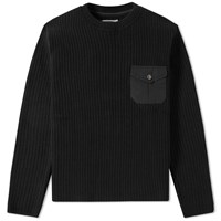 Mt. Rainier Design Pocket Crew Knit Black
