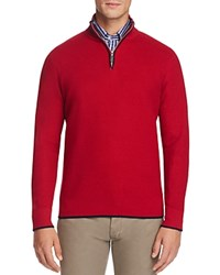 Tailorbyrd Emmons Half Zip Sweater Red
