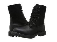 Timberland Authentics Teddy Fleece Fold Down Black Black Women's Lace Up Boots