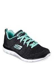 Skechers Flex Appeal Knit Lace Up Sneakers Black