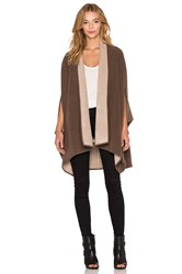 Shades Of Grey Oversized Cocoon Cape Taupe